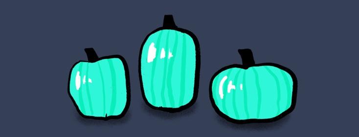 Teal pumpkins for Halloween?