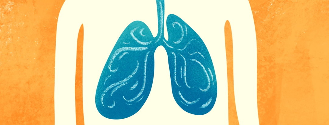 lungs being filled with air