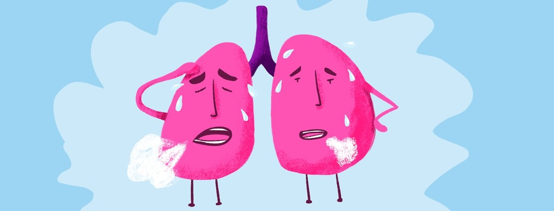 exhausted lungs