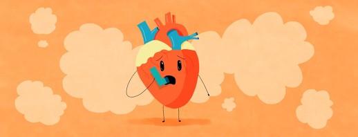 a heart using an inhaler