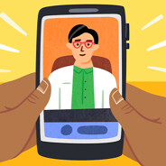 Telehealth appointment, virtual doctor visit, cell phone, POC