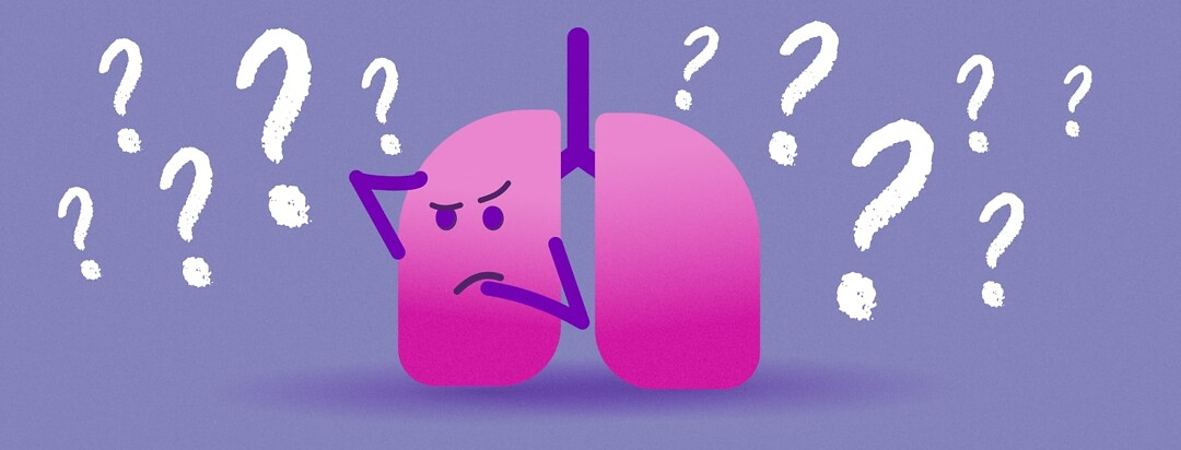 lungs surrounded by question marks